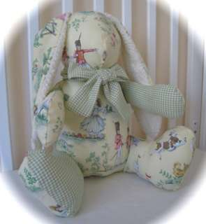 OVER THE MOON TOILE STUFFED TOY BUNNY NURSERY DECOR