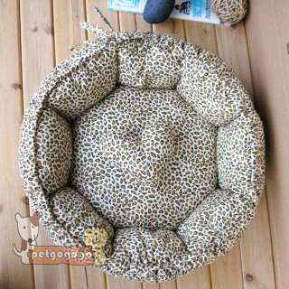 soft pet dog/cat bed house kennel cotton S cute LEOPARD LINE 2 USE US