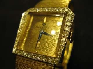BAUME + MERCIER 14K YELLOW GOLD + DIAMOND BEZEL WRIST WATCH