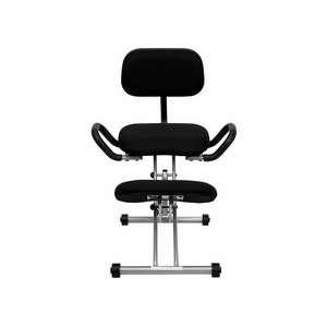 Flash Kneeling Chair Ergonomic Black Fabric WL3439GG