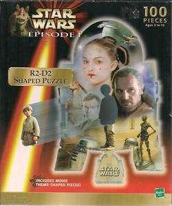 STAR WARS EPISODE 1 R2 D2 SHAPED JIGSAW PUZZLE 100 PCS
