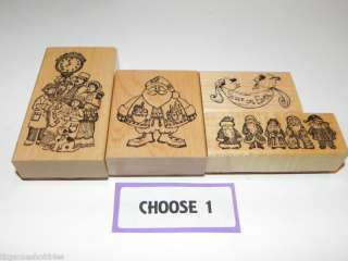 Delafield Stamp Company ~ PICK 1 Rubber Stamp Christmas