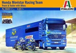 Mercedes Tractor w/Movistar Trailer & Honda RC211V Motorcycles 124