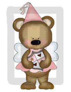 FAIRY PRINCESS BEAR BABY GIRL PREMADE SCRAPBOOK PAGES