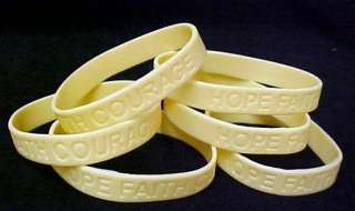 MS Multiple Sclerosis Bracelet Pearl Silicone 6 pc Lot