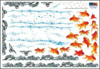 GOLDFISH Removable Wall Art Deco Mural Sticker SS58 231