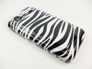 HTC INCREDIBLE 2 VERIZON WHITE BLACK ZEBRA COVER CASE