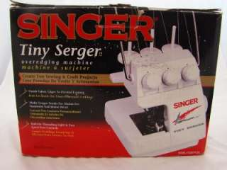 SINGER TINY SERGER TS380 PLUS IN BOX W/PEDAL CORD ETC