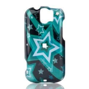 Phone Shell for HTC MyTouch Slide 3G (Falling Stars   Turquoise) Cell
