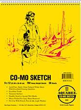 Bee Paper #820 CO MO Sketch Drawing Paper Pad 9x12 718224015440