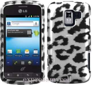 SILVER LEOPARD Case Cover for Straight Talk NET 10 LG OPTIMUS Q