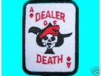 ACE OF SPADES   THE DEATH CARD military biker PATCH