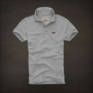 NEW HOLLISTER by Abercrombie mens Bird Classic Polo Shirt T Shirt NWT