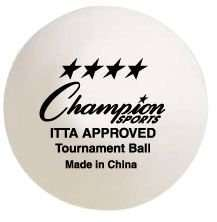Champion Sports 4 Star Tournament 40 mm Table Tennis Ba