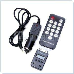 Wireless FM Transmitter + Remote + Car Charger for iPhone 3G 4 4G 4S
