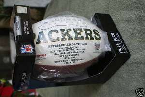 GREEN BAY PACKERS NFL FULL SIZED FOOTBALL