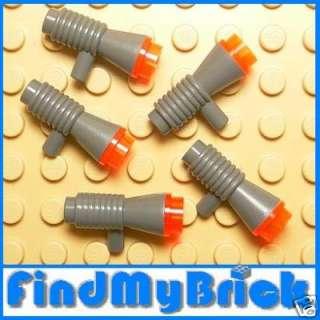 K208Ax5D Lego 5x Star Wars Space Laser Gun   Gray   NEW