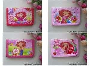 PCS Strawberry Shortcake 3 Fold Wallet Purse Card Bag