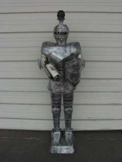 Foot SILVER Suit of Armor WINE BEARING Knight
