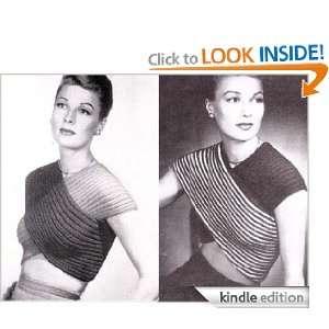 Bathing Suit Bandeaux Blouse Top Vintage Knit Knitting Pattern