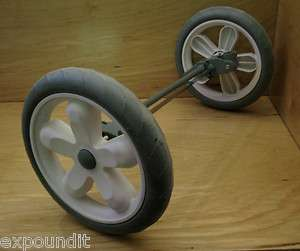 Graco StrollerGliderRear/back Tire/Wheel w/axle rod assemblywh/sage