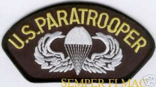 US ARMY PARATROOPER PATCH PARACHUTE AIRBORNE JUMP WING