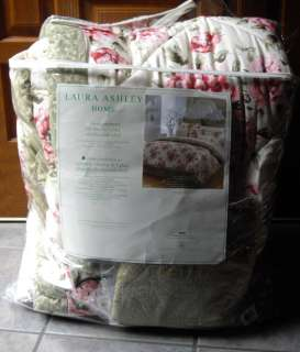 Cottage Chic Pink Sage Shabby Rose Twin COMFORTER FREE SHIP