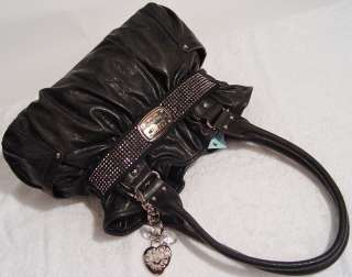 NWT Kathy Van Zeeland Heart You ll Black Belt Shopper Tote Handbag Bag