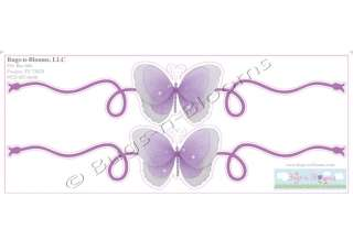 wall mural SCROLL butterflies STICKERS name accent vinyl decals