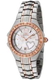 Invicta 0694 Ladies Diamond Heart Wildflower Watch