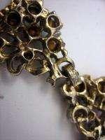VTG unsigned Hollycraft Multi Color Glass Stn Necklace