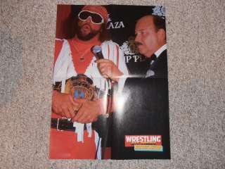 MACHO MAN RANDY SAVAGE MICHAEL HAYES wrestling POSTER