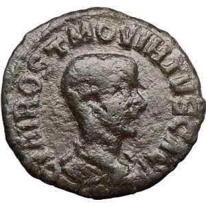 as CAESAR 250AD Viminacium Bull Lion Legions Ancient Roman Coin RARE