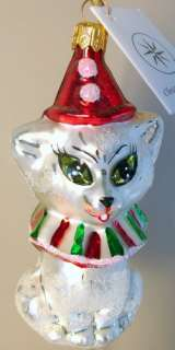RADKO Meowy Christmas ORNAMENT Kitty CAT Bell 1013297