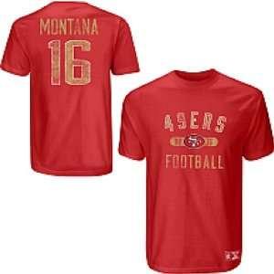 Men`s San Francisco 49ers #16 Joe Montana Garment Washed Name & Number