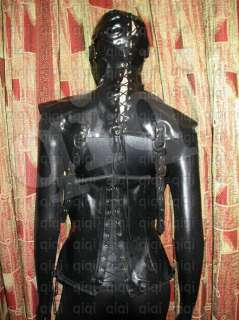 Latex/rubber/0.8mm Hood/mask/costume/catsuit/suit/black/heavy/knight