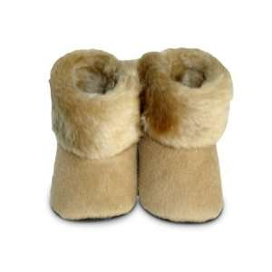 Tan Fur Baby Boots, 12 18 months, by Baby Bella Maya Cell