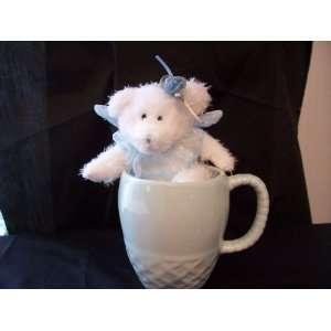 Baby Blue Teddy Bear Fairy w/ Co ordinating Ceramic Coffee