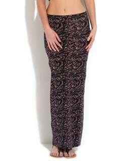 Black) Black Fancy Markings Jersey Maxi Skirt  251811909  New Look