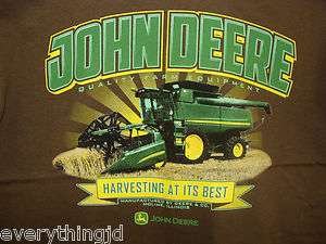 Mens Brown John Deere Harvesting At Its Best T Shirt