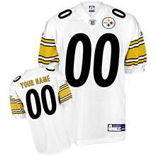 Reebok Pittsburgh Steelers Customized Authentic White Jersey (48 56