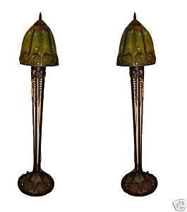 Spectacular Pair of Hand Crafted Art Deco Floor Lamps