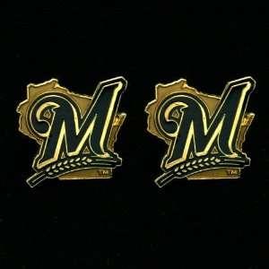 Milwaukee Brewers Team Logo Post Earrings: Sports