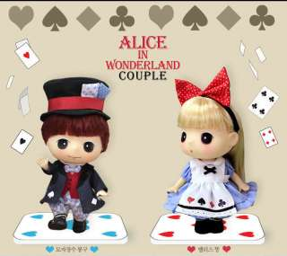 Lovely Cute Doll Figure DDUNG & BONG GU Alice in Wonderland Couple