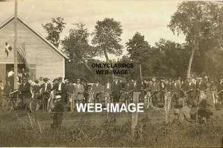 1915 HARLEY DAVIDSON  INDIAN MOTORCYCLE LINEUP MN PHOTO