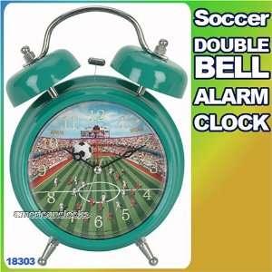 Soccer Twin Bell Sports Alarm Clock,Football,Baseball