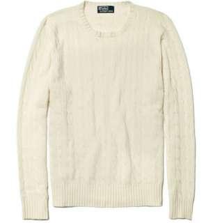 Polo Ralph Lauren Cashmere Cable Knit Sweater  MR PORTER