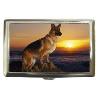 German Shepherd Dog Cigarette Money Card Holder Case