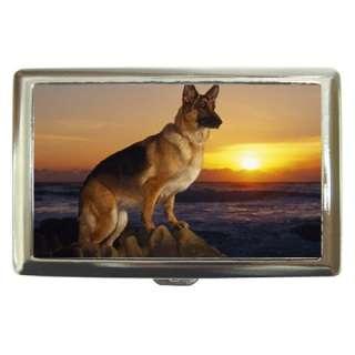 German Shepherd Dog Cigarette Money Card Holder Case