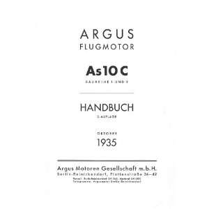 ARGUS As 10 C   Aircraft Engine Handbook Manual   1935 Argus